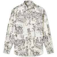 Saint Laurent Day Of The Dead Shirt White