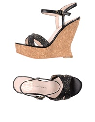 House Of Harlow 1960 Wedges Black