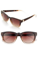 Women's Ivanka Trump 50Mm Keyhole Sunglasses Dark Tortoise