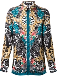 Versace Collection Baroque Aztec Print Shirt