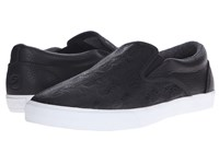 Bucketfeet Pineappleade Black Leather Men's Slip On Shoes