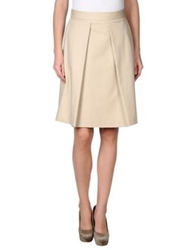 Alberto Biani Knee Length Skirts Beige