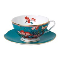 Wedgwood Paeonia Teacup And Saucer Green