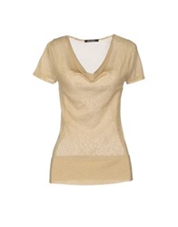 Scooterplus Short Sleeve Sweaters Beige