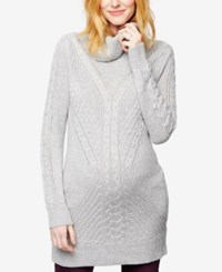 A Pea In The Pod Maternity Cowl Neck Sweater Light Mid Gray