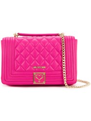 Love Moschino Quilted Shoulder Bag Women Polyurethane One Size Pink Purple