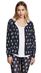 Terez Mini Heathered Skulls Hoodie Multi
