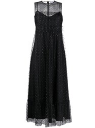 Red Valentino Embellished Tulle Long Dress 60