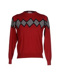 Sun 68 Knitwear Jumpers Men Maroon