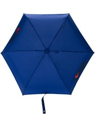 Moschino Fold Down Umbrella Blue