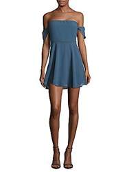 Lucca Couture Off The Shoulder Fit And Flare Dress Blue