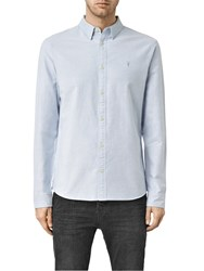 Allsaints Hungtingdon Slim Fit Shirt Light Blue