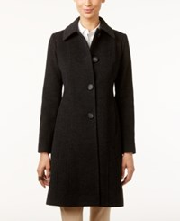 Anne Klein Petite Wool Cashmere Blend Walker Coat Only At Macy's Charcoal