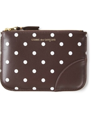 Comme Des Garcons Wallet Polka Dot Wallet Brown
