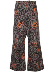 Sankuanz Baggy All Over Print Trousers Black