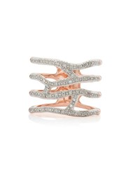 Monica Vinader Rp Riva Waterfall Cocktail Diamond Ring Gold