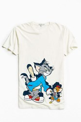 Junk Food Tom And Jerry '90S Tee White