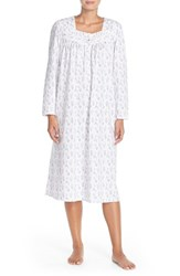 Women's Eileen West 'Florent' Floral Print Nightgown Ivory Purple