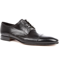 Stemar Softy Leather Derby Shoes Black