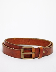 Selected Andre Leather Belt Brown