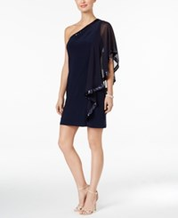 Betsy And Adam B A By Sequin Batwing Cocktail Dress Navy
