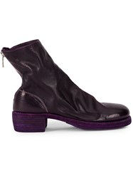 Guidi Rear Zipped Boots Pink And Purple