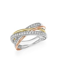 Bloomingdale's Diamond Crossover Statement Ring In 14K Gold .30 Ct. T.W. 100 Exclusive White Multi