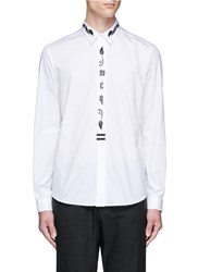Mcq By Alexander Mcqueen 'Sheehan' Floral Logo Embroidered Shirt White