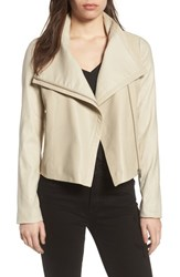 Lamarque Larmarque Leather And Linen Mix Jacket Beige