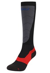 2Xu Elite Alpine Xlock Compression Knee High Socks Black Grey