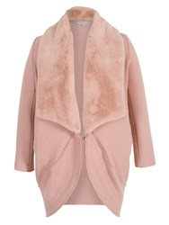 Chesca Shawl Collar Wool Coat Pink