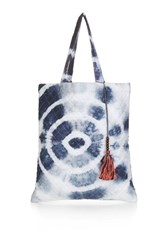 Topshop Key To Freedom Quilted Tote Blue