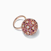 Tiffany And Co. Rings In Platinum 18K Rose Yellow Gold With Mixed Gemstones. 18K Rose Gold Sapphire Pink