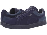 Puma Suede Classic Casual Emboss Peacoat Men's Basketball Shoes Blue