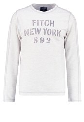Abercrombie And Fitch Jumper Cream Mottled Grey