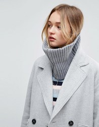 Asos Short Zip Up Snood Grey