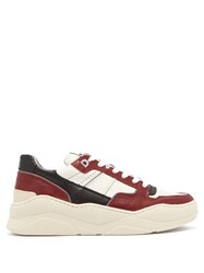 Ami Basket Leather Low Top Trainers Red White