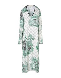 Shirtaporter 3 4 Length Dresses Green