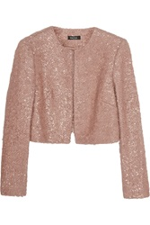 Raoul Cropped Metallic Mohair Blend Jacket