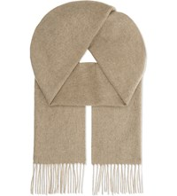 Johnstons Classic Cashmere Scarf Otter