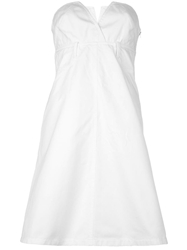Christian Lacroix Vintage Strapless Dress White