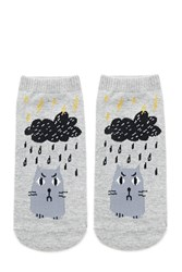Forever 21 Angry Cat Ankle Socks