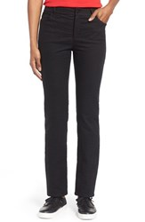Women's Lafayette 148 New York Curvy Fit Jacquard Stretch Slim Leg Jeans Black