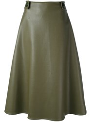 Marni High Waisted Midi Skirt Women Polyurethane Viscose 40 Green