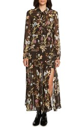 Willow And Clay Print Western Maxi Dress Black