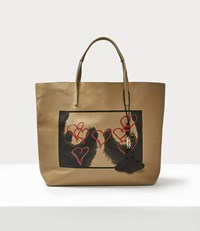 Vivienne Westwood Punk Leather Shopper Natural