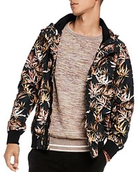 Scotch And Soda Floral Hooded Jacket Floral Green