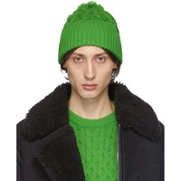 Rag And Bone Green Aran Beanie