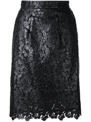 House Of Holland Lace Overlay Skirt Black