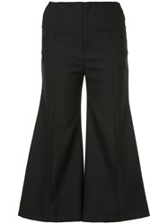 Georgia Alice Bobby Cropped Flared Trousers Acetate Blue